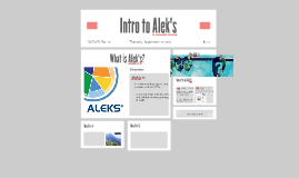 Intro to Alek's