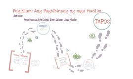 Copy of Pagislam: Ang pagbibinyag ng mga Muslim