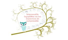 Intervención logopédica en los trastornos de comprensión