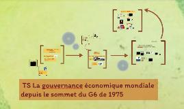 TS La gouvernance économique mondiale