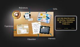 Copy of LEY DE PROTECCIÓN DE DATOS: FICHEROS DE TITULARIDAD PÚBLICA