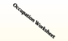 Occupation Worksheet
