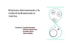 Relaciones Internacionales y