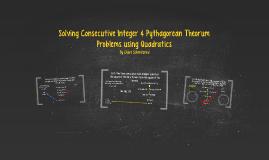 solving Consecutive integer & Pythagorean