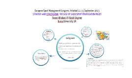 Copy of European Sport Management Congress, Istanbul 11-15 September