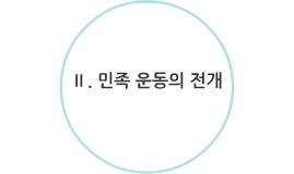 Ⅱ. 민족 운동의 전개