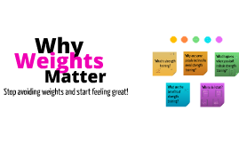 Why Weights Matter