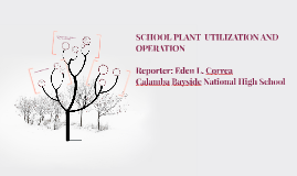 SCHOOL PLANT  UTILIZATION AND OPERATION