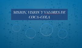 MISION, VISION Y VALORES DE COCA-COLA