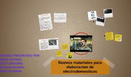 Nuevos materiales para elaboracion de electrodomesticos