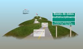Bases de datos multidisciplinares