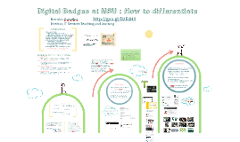 Digital Badges at MSU: How to differentiate