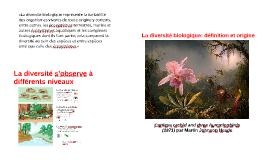 La diversité biologique définition et origine
