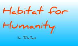 Copy of Habitat for Humanity in Dallas