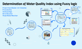 Determination of Water Quality Index using Fuzzy logic