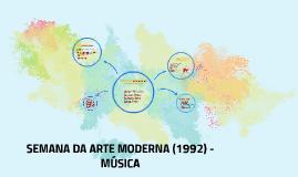 Semana da arte moderna - Música (1922)