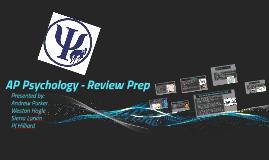 AP Psychology - Review Prep