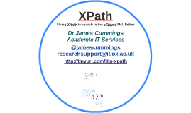 XPath: Using XPath to search in the oXygen XML Editor