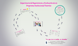importancia del Seguimiento y Evaluación de un Programa Inst