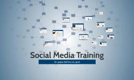Social Media Training May 2016