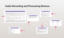 Audio Recording and Processing Devices