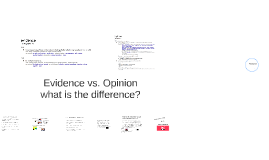 BIO208 Evidence & opinion lecture