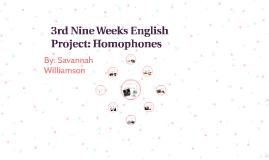 3rd Nine Weeks English Project: Homophones
