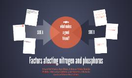 Factors afecting nitrogen and phosphorus