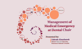 Management of Medical Emergency at Dental Chair