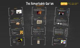 The Remarkable Qur'an - Hamza Andreas Tzortzis