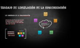 trabajo de Legislación de la comunicación