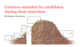 Common mistakes by candidates during their interview