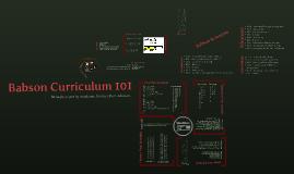 Babson Curriculum 101