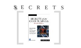 [COMM580] Secrets of the Game Business
