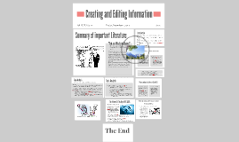 Creating and Editing Information