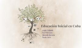 Educación Inicial en Cuba