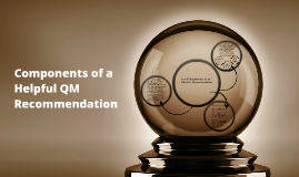 Components of a Helpful QM Recommendation