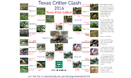 Texas Parks & Wildlife's Texas Critter Clash 2016 - Texas Pride Edition