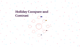 Holiday compare and contrast