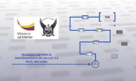 PRIORIZACION PARA EL MANTENIMIENTO DE LAS UPC´S A NIVEL NACI