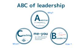 ABC of leadership