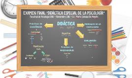 EXAMEN FINAL DIDÁCTICA ESPECIAL DE LA PSICOLOGÍA