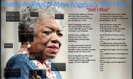 "Copy of Poetry Analysis of Maya Angelou's ""Still I Rise"""
