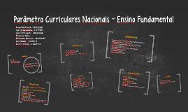 Parâmetro Curriculares Nacionais - Ensino Fundamental