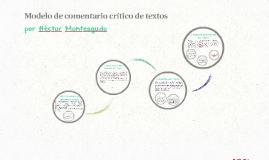Modelo de comentario crítico de textos