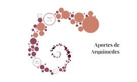 Aportes de Arquímedes