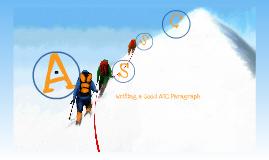 Writing an ASC Paragraph