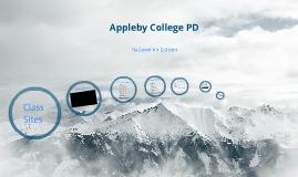 Appleby College PD