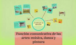 Copy of Función comunicativa de las artes: música, danza y pintura