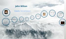 Copy of John Milton: A Biography